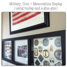 made: Military Coin Display {Simple DIY}
