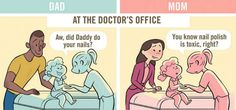 Differences Between Being a Dad and Mom