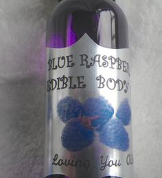 Blue Raspberry Edible Love Oil by LovingYouOils on Etsy