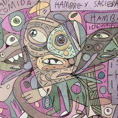 """""""Saciedad y comida. Luis Ricardo Ramos."""" #Ilustración #illustration #art #arte#puebla #color #dibujo"""
