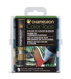 Chameleon 5 Color Tops Nature Tones Set - Chameleon Art Products Australia