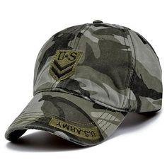 2017 camouflage baseball cap Letter US army snapback Hat for men Cap gorra  casquette dad hat Wholesale 345b23c2c49