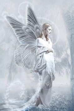 Snow Fairy by imthinkingoutloud.deviantart.com