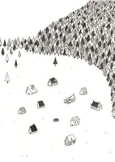 eatsleepdraw:    Village  My Tumblr