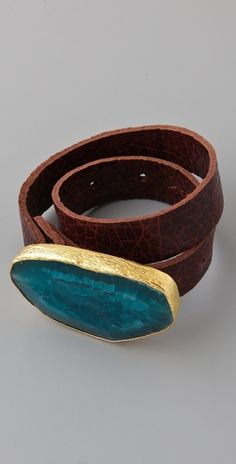 Cool bracelet.  Love all that is turquoise/blue/natural stone.