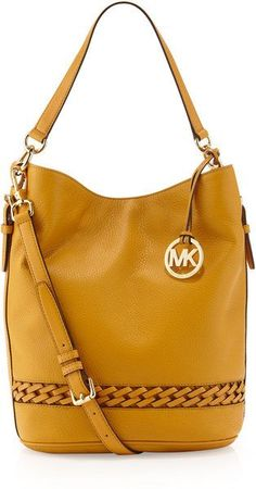 Michael by Michael Kors Wovendetailed Leather Bucket Bag Marigold Cheap Michael Kors, Michael Kors Outlet, Michael Kors Tote, Handbags Michael Kors, Michael Kors Hamilton, Mk Handbags, Fashion Handbags, Fashion Bags, Cheap Handbags