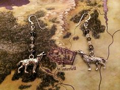 Game of Thrones House Stark of Winterfell Wolf by chickatey, $16.00