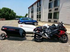 2011 Hayabusa pulling a trailer. Www.joetrailer.com