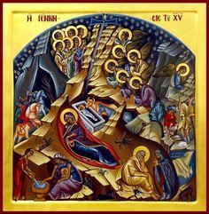 IC.XC__Γεννηση _ dec 25 ( -contemporary Religious Images, Religious Icons, Religious Art, Early Christian, Christian Art, Renaissance Image, Byzantine Icons, Orthodox Icons, Sacred Art