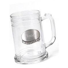 JDS Personalized Gifts Best Man Pewter Medallion Glass Mug