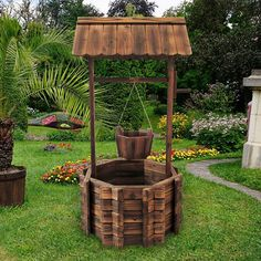 Have to have it. Shine Company Seville Square Wishing Well Planter ...