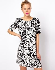 ASOS animal print shift
