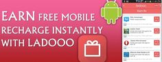 Eearn free recharge with ladooo app.