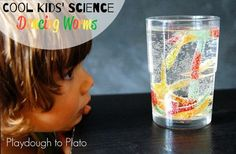 Activity for ages 2 to 5. This simple kids' science activity is perfect for little mad scientists who likeseeing creatures come alive before their eyes. Like our fizzing popsicle paint and magic balloons, this kids' science experiment uses baking soda and vinegar to make gummy worms dance. Kids' Science Prep  First, I grabbeda bag …
