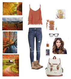 """""""Back to fall"""" by catsaysmeow ❤ liked on Polyvore featuring Glamorous, H&M, Wet Seal, ULTA, Essie and Ray-Ban"""