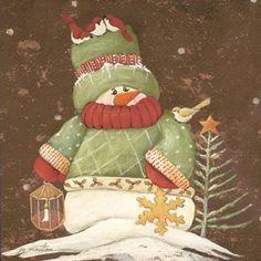 Snowman Sweater I Glittered Art by artist Jo Moulton