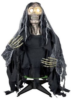 Party Destination - Ground Breaker Ghoul Animated Prop, Black - Click image twice for more info - See a larger selection of  scary props at http://costumeriver.com/product-category/scary-props/ - halloween, events, holiday , trick or treat, scary, costume, halloween party , halloween decoration