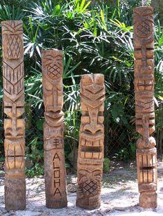 tiki Moai Totem