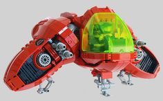 LEGO Spaceship, it looks like a LEGO set, but I think it was made by an individual.  I am impressed.