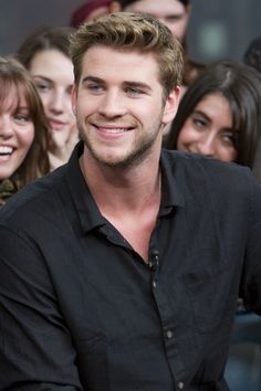 Liam Hemsworth - Cast Members From The Hunger Games Visit New.Music.Live. in Toronto