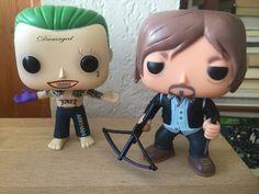 Quem não se apaixona por esta dupla? Coringa de Jared Leto e Darryl, também conhecido como Norman Reedus. É muito amor e muita Fofura em dois bonequinhos só né? 😎👻🙉