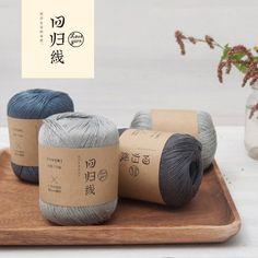 2 pcs 100% Sub Fio Crochet Linho Série gancho linha de lã Fina 5 # Rendas fio de algodão para confecção de malhas de linho fio