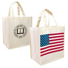 Promotional Patriotic Nonwoven Shopping Tote Bag