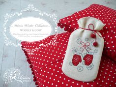 Woolly & Cosy, a free blackwork and cross stitch design from the Warm Winter Collection - Ajisai Press