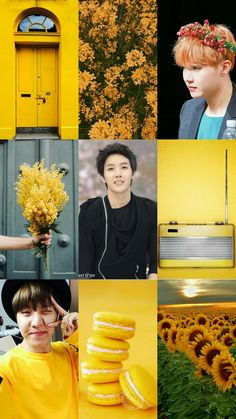 Jhope and yellow