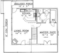 Plan 2225SL: One Story Garage Apartment | First story, Garage and ...