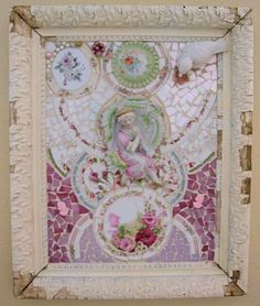 Gorgeous Shabby Mosaic Wall Art-Dreams of the past