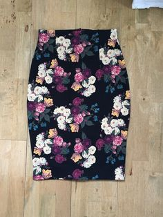 Ultimate Pencil Skirt made by Hazel in a beautiful floral