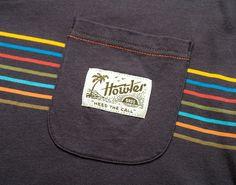 Pocket T-Shirt - Grey w/ Hemisphere Stripe Disney Renaissance, Pocket, Grey, Cotton, T Shirt, Fall, Gray, Supreme T Shirt, Autumn