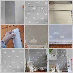 Kinderzimmer Ideen #1: Wolkenwand Tutorial & Plotter-Freebie - Mamahoch2