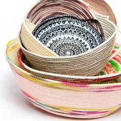 Learn to make these coil baskets. (via Alisa Burke)