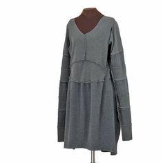 sooopersleevedress - gray, reconstructed - Secret Lentil Clothing