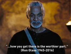 """""""Firefly""""/""""Serenity"""" star Ron Glass, Met him at my first Comic Con, in Such a gentleman. << Rest in peace Mr. You were loved by many. Star Trek Enterprise, Star Trek Voyager, Ron Glass, Shepherd Book, Stargate Atlantis, Joss Whedon, Geek Out, Inevitable, Best Tv"""