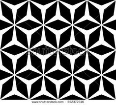 Vector monochrome seamless pattern, simple repeat geometric texture, polygonal floral ornament, black & white contrast mosaic background. Design element for prints, decor, digital, textile, furniture