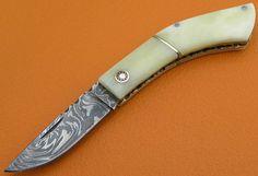 100% Handmade & Forged Sana Cutlery Damascus Steel Camel Bone