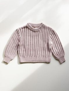Classic, crew neck knit sweater. Made with certified organic cotton. Sustainable clothing, eco clothing, quality loungewear for children. Eco Clothing, Sustainable Clothing, Baby Sweaters, Lounge Wear, Organic Cotton, Girly, Turtle Neck, Orange, Sleeves