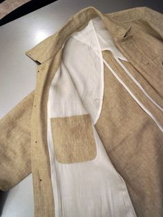 Fashion Sewing, Diy Fashion, Fashion Illustration Dresses, Safari Jacket, Fashion Figures, Summer Suits, Custom Clothing, Men Style Tips, Knit Jacket