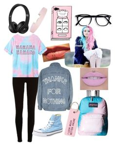 """Kawaii"" by cheyxoxkira ❤ liked on Polyvore featuring River Island, Converse, JanSport, Humble Chic and Various Projects"