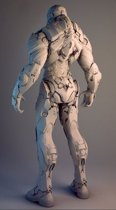 ArtStation - Nvidia Soldier, by Mike JensenMore robots here.