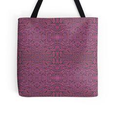 Pink waves - acrylic pattern
