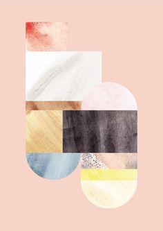 Danish graphic designer Lene Nørgaard | Marble inspired prints