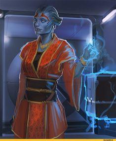 Mass Effect,фэндомы,ME art,Samara,LuckyFK