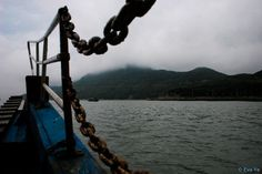 First buyer receives a complimentary photo of the same size // Zhoushan, Southeast China, Boat view, Mountains, Ocean