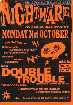 Nightmare On Old Burlington St 1988 - Early Rave Flyers