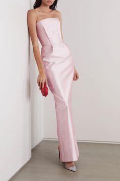 Tulle Gown, Silk Gown, Satin Gown, Silk Satin, Strapless Dress, Pink Satin Dress, Satin Dresses, Long Dresses, Alexandre Vauthier
