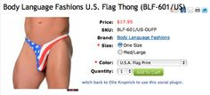 Oh No They Didn't! - Memorial Day Brings Out The Worst American Flag Fashion
